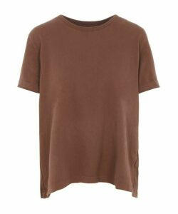 Lenu Back Pleat Cotton T-Shirt