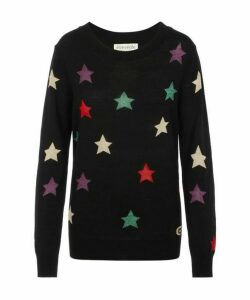 Star All Over Round Neck Knitted Jumper