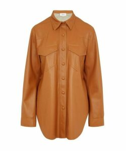Eddy Vegan Leather Shirt