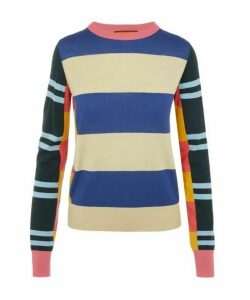 Multi-Stipe Knitted Wool Jumper