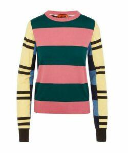 Multi-Stipe Knitted Wool Jumper