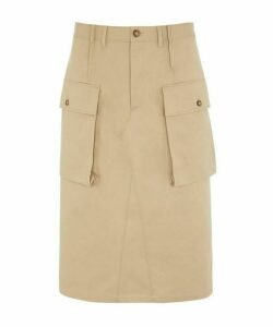 Trench Pocket Cotton Skirt