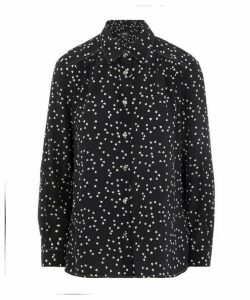 Sutton Heart Print Silk Shirt