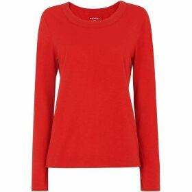 Whistles Rosa Double Trim L/Sleeve Tee
