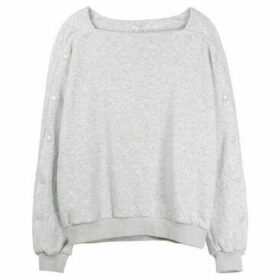Frnch  Long sleeve sweater NAOMIE  women's Blouse in Grey