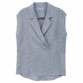 Frnch  Sleeveless blouse with tailored collar CELYA  women's Shirt in Grey
