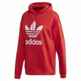 adidas  Adicolor Trefoil Hoodie  women's Sweatshirt in Red