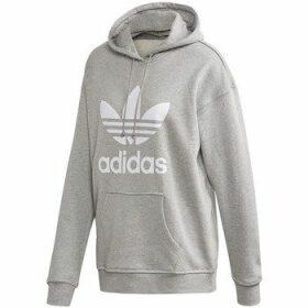 adidas  Trefoil Hoodie  women's Sweatshirt in Grey