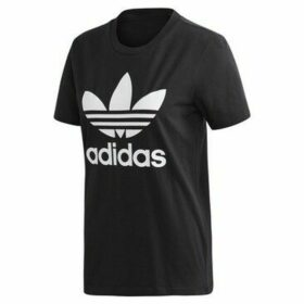 adidas  Trefoil Tee W  women's T shirt in Black