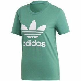 adidas  Trefoil Tee  women's T shirt in Green
