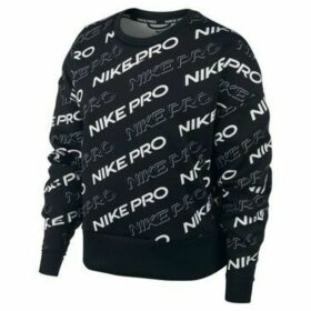 Nike  Pro Fleece Crew Print W  women's Sweatshirt in Black
