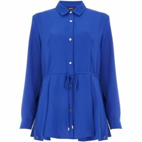 DKNY Button through blouse with tie waist