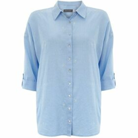 Mint Velvet Blue Embroidered Star Shirt