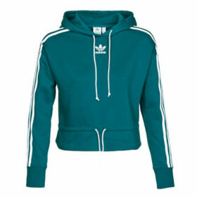 adidas  CROPPED HOODIE  women's Tracksuit jacket in Blue