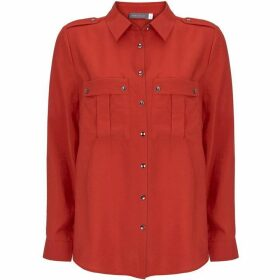 Mint Velvet Red Utility Shirt