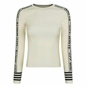 Off White Logo Knit Jumper