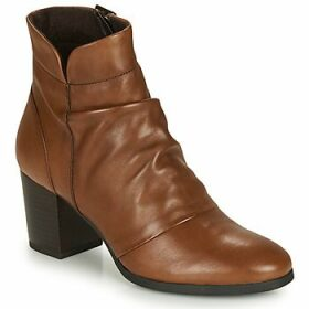 André  EBENE  women's Low Ankle Boots in Brown