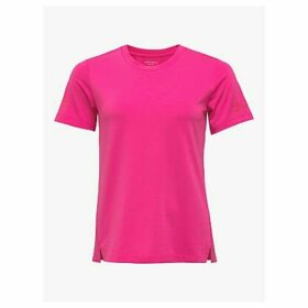 Björn Borg Cato Short Sleeve Training Top, Pink Glo