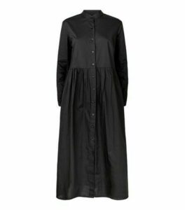 Innocence Black Poplin Midaxi Dress New Look