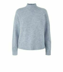 Blue High Neck Jumper New Look