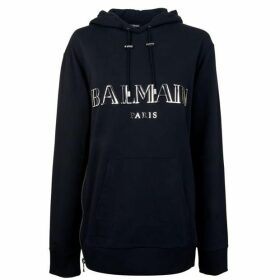 Balmain Hooded Zip Hem Sweatshirt