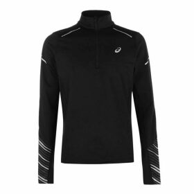 Asics Zip Long Sleeve Top Mens - Black