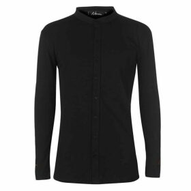 Nimes Long Sleeve Cuff Logo Shirt - Black