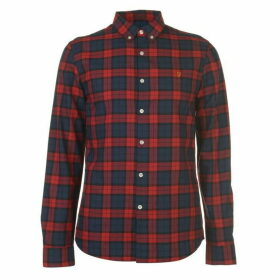 Farah Vintage Farah Brewer Checked Shirt Mens - 634 FIRE BRICK