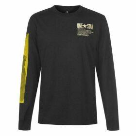 Converse Photo Long Sleeve T Shirt - Black
