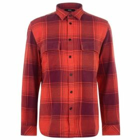 Diesel Large Check Shirt - Orange 42M