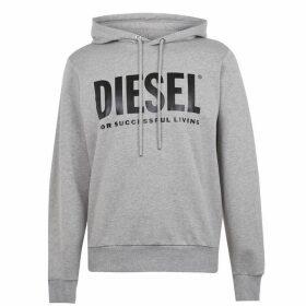 Diesel Text Logo OTH Hoodie - Grey 912
