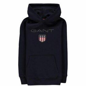 Gant Shield Logo OTH Hoodie - Navy