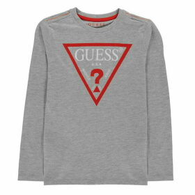 Guess Long Sleeve T Shirt - Grey M90
