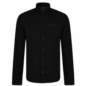 HUGO Extra Slim Short Length Cotton Shirt - Black