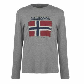 Napapijri Sadrin Long Sleeve T Shirt - Med Grey