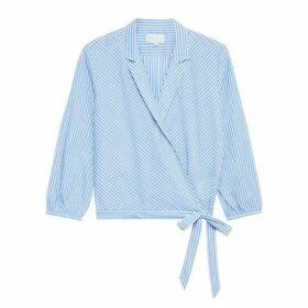 Jack Wills Keira Stripe Wrap Shirt - Blue