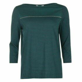 TOMMY HILFIGER Mirthe three quarter Sleeve T Shirt - June Bug/Sky Cp