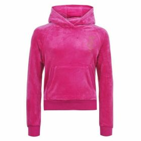 Juicy Couture Velour Pullover Hoodie - Raspberry Rose