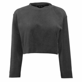 USA Pro Velour Sweat Top Ladies - Grey