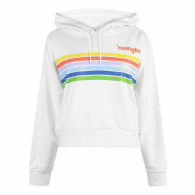 Wrangler Cropped Hoodie - White
