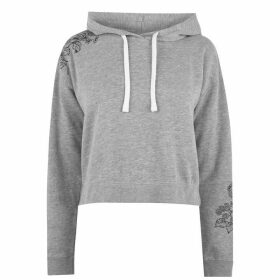 Jack Wills Merrial Embroidered Hoodie - Grey Marl