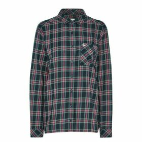 Jack Wills Blissford Girlfriend Checked Shirt - Navy
