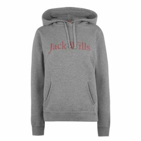 Jack Wills Borrowfield Heritage Longline Hoodie - Grey Marl