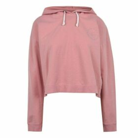 Jack Wills Smallridge Cropped Hoodie - Deep Rose