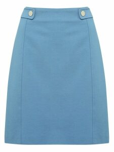 Women's Ladies A-line skirt with button tab detail stretch ponte fabric