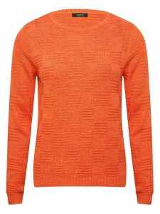 Women's Ladies Spirit coral long sleeve textured knit jumper
