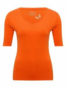 Women's Ladies plain t-shirt with short half sleeves v neckline pure cotton