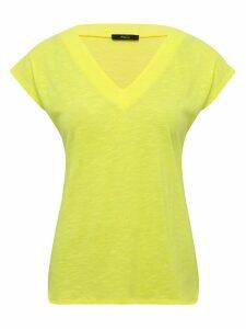 Women's Ladies neon v neck t-shirt wtih short sleeves