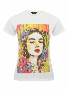 Women's Ladies petite face print t-shirt