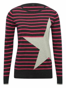 Women's Ladies star and stripe long sleeve jumper